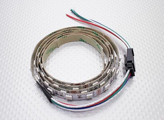 LED rouge, vert, bleu (RVB) Strip 1M w / Flying Lead