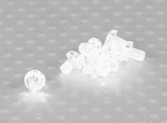 Transparent Vis en polycarbonate M3x4mm - 10pcs / bag