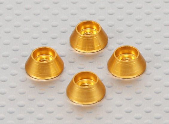Alloy Cone Rondelle (Gold) (4pcs)