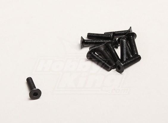 M3x14mm tête plate Vis à tête hexagonale (12pcs / sac) - Turnigy Trailblazer XB et XT 1/5
