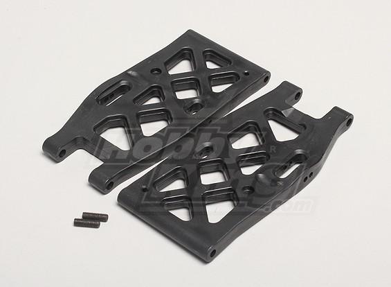 Nutech Lower Suspension arrière Bras (2pcs / sac) - Turnigy Titan 1/5