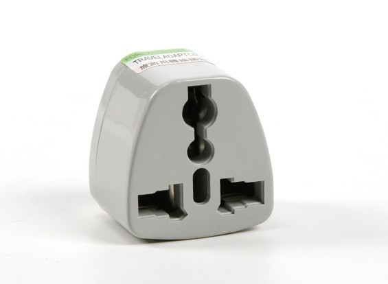 HobbyKing TXW004 Fused 13 Amp alimentation secteur multi Adaptateur-Grey (Inde Plug)
