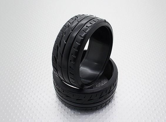 Échelle 1:10 composé plastique dur CR-F1 Drift Tires (2pcs)