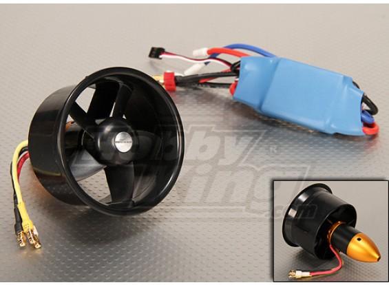 Système HK EDF64 Brushless Puissance 3500kv & 45A ESC