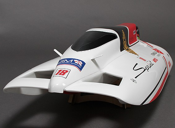 Sprint F3 en fibre de verre Tunnel Hull Brushless Racing Boat w / Moteur (630mm)