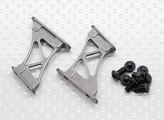 1/10 aluminium CNC Tail / Support Wing Frame-Medium (Titanium)