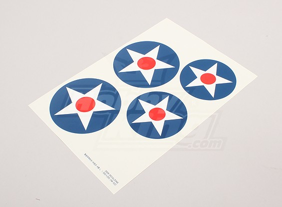 Échelle de la Force Aérienne Nationale Insignia Decal Sheet - USA (grand type A)