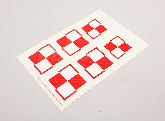 Échelle nationale Air Force Insignia Decal Sheet - Pologne