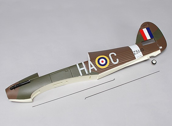Hawker Hurricane Mk IIB 1000mm - Remplacement Fuselage
