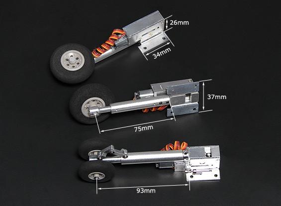 Turnigy Full Metal Servoless rétracte avec Pieds Oleo (de Tricycle, F-4 de type)
