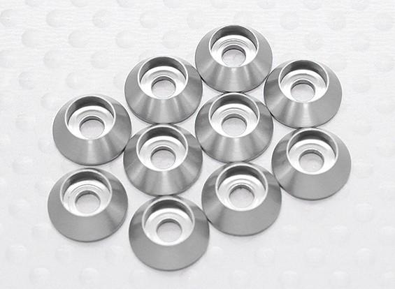 Laveuse six pans en aluminium anodisé M3 (Silver) (10pcs)