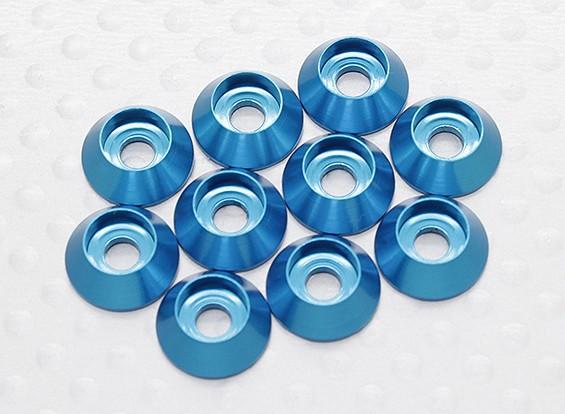 Laveuse six pans en aluminium anodisé M3 (Bleu) (10pcs)
