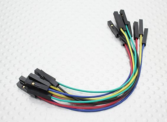120mm femelle à femelle Jumper Cable Set (10pc)
