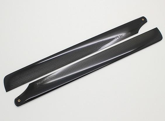 325mm Flybarless de haute qualité en fibre de carbone principal Lames