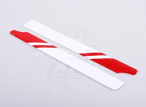325mm Carbon / Fibre de verre Composite lame principale (Rouge / Blanc)
