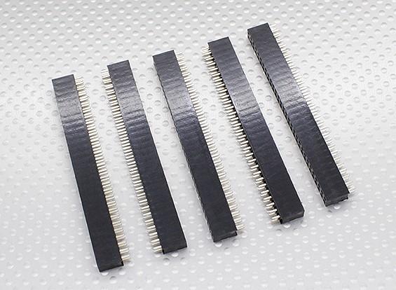 2x30P Pin Socket - 2,54 mm de hauteur (5pcs / bag)