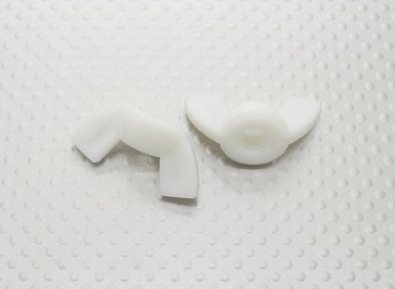 Nylon Wing Nuts M8 - 2pcs