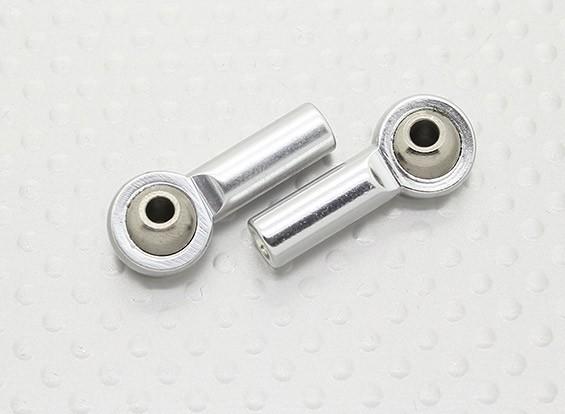 Métal Joints à rotule (filetage de gauche) M3 x 26mmx 3mm - 2pcs