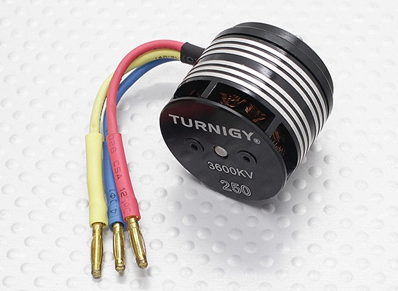 Turnigy 250 Series 3600KV Brushless Outrunner Motor Helicopter