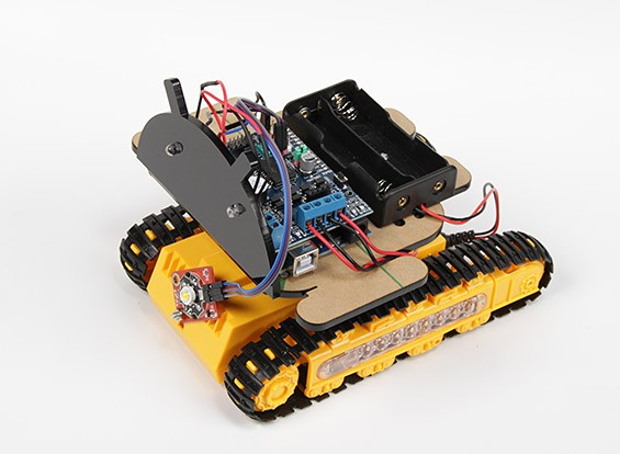 Kingduino Kit Bluetooth Robot Mobile sur chenilles