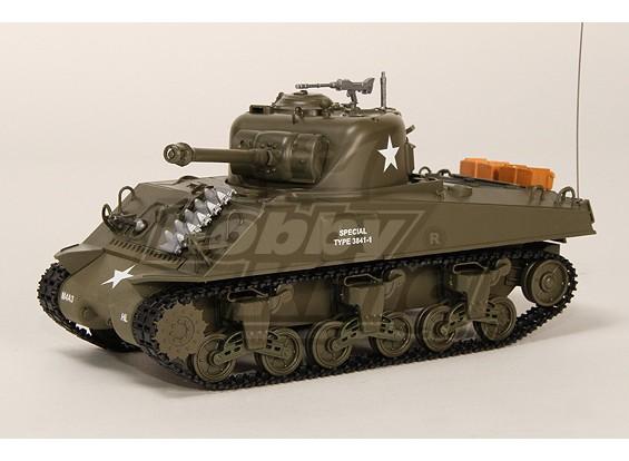 US-M4A3 Sherman Medium RC Tank RTR w / Tx