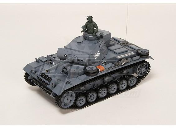 Panzer III Kampfwagen Ausf.L RC Tank RTR w / Airsoft & Tx