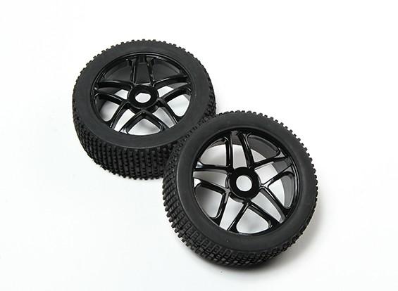 HobbyKing® 1/8 Black Star roues et pneus hors-route 17mm Hex (2pc)