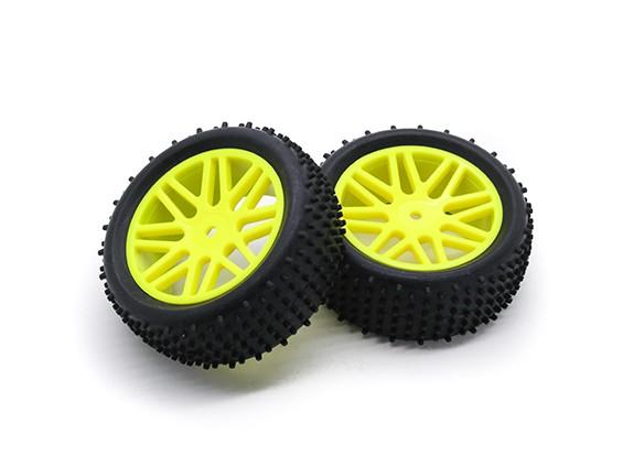 HobbyKing 1/10 aérateur Y-Spoke (Jaune) Roue / 12mm Tire Hex (2pcs / Sac)