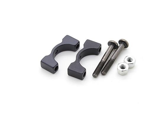 Anodisé noir CNC en aluminium Tube Clamp 12mm Diamètre