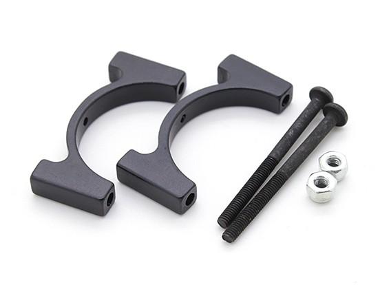 Anodisé noir CNC en aluminium Tube Clamp 25mm Diamètre