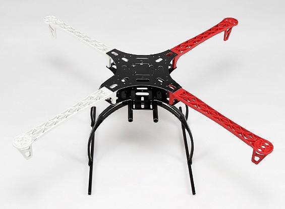 Z700-V2 Cadre Quadcopter Blanc / Rouge Avec Crab Landing Gear (700mm) V2