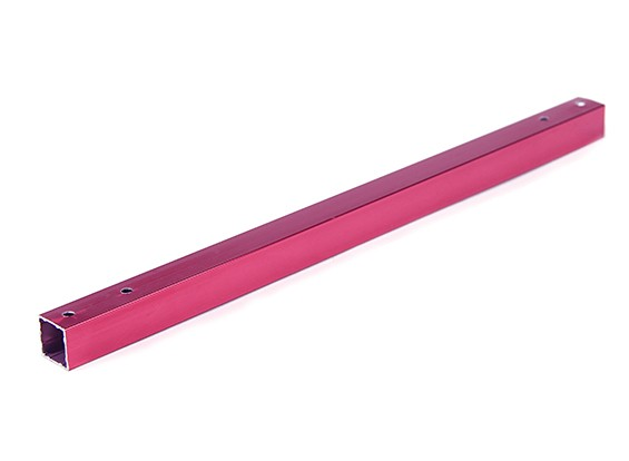 Aluminium Tube carré bricolage multi-rotor 12.8x12.8x230mm X525 (.5Inch) (Rouge)