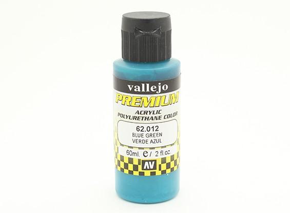 Peinture acrylique de couleur Vallejo Premium - Blue Green (60ml)