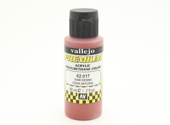 Peinture acrylique de couleur Vallejo Premium - Raw Sienna (60ml)