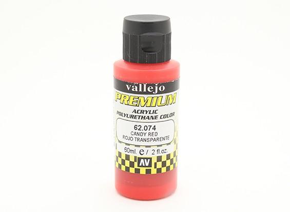 Peinture acrylique de couleur Vallejo Premium - Rouge Candy (60ml)