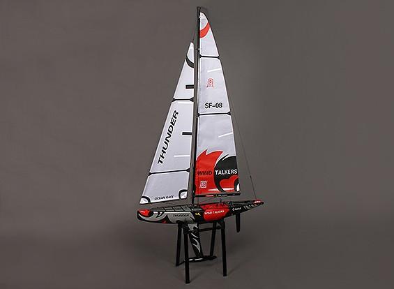 Fiberglass RC Yacht Voilier de Thunder 1000mm (ARR)