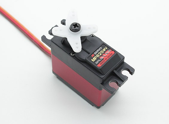 JR MP82SWV tension large à haute vitesse Brushless Servo avec MG et Dissipateur 12,8 kg / 0.09sec / 72g