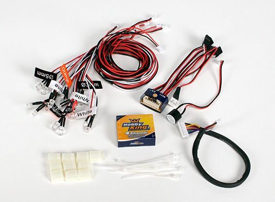 HobbyKing Professional 4 canaux Système d'éclairage pour les camions et les voitures