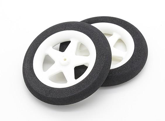 Mousse légère roue 5 branches (Diam: 65mm, 10mm Largeur) (2pc)
