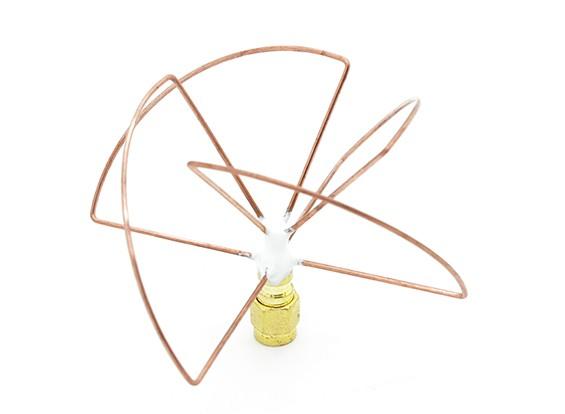2.4GHz à polarisation circulaire antenne SMA Récepteur seulement (Short)