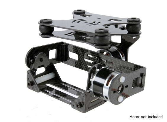 Shock Absorbing 2 Axis Brushless Gimbal pour DJI Phantom - Carbon Fiber Version