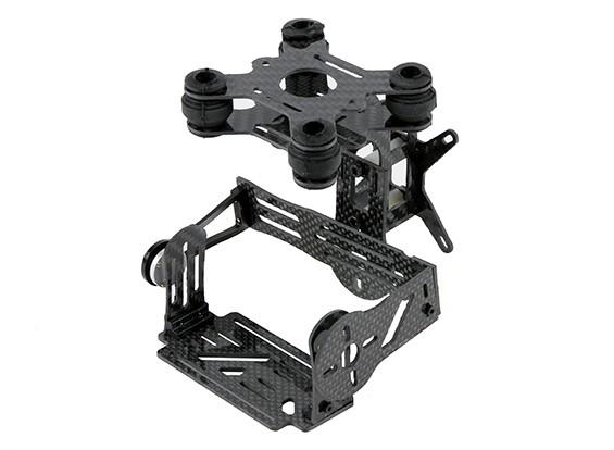 Kit Gopro Carbon Fiber Brushless 2 Axis Gimbal avec Damping