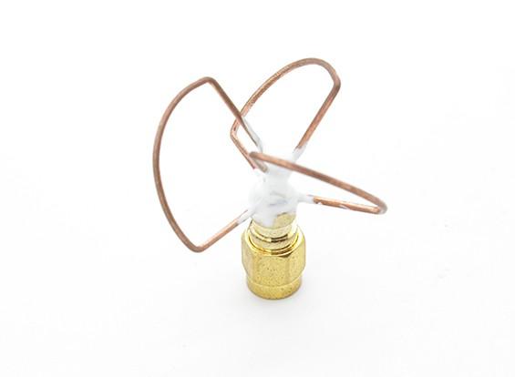5.8GHz à polarisation circulaire antenne RP-SMA Transmetteur Seulement (Short)