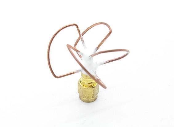 5.8GHz à polarisation circulaire antenne RP-SMA Récepteur seulement (Short)