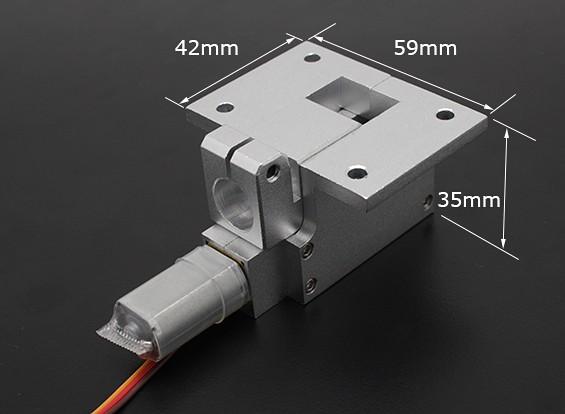 Tous les métaux Servoless 90 degrés Retract pour les grands modèles (6kg) w / 12.7mm Pin