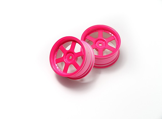 01:10 Rallye roue à 6 rayons Neon Pink (3mm Offset)