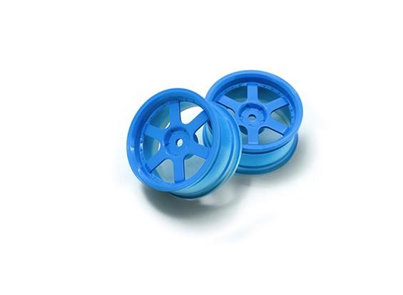 01:10 Rallye roue 6 rayons Fluorescent Bleu (3mm Offset)
