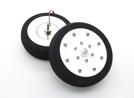 """Dr. MadThrust 3.5 """"/ 88.5mm Wheels principale avec système de freinage magnétique Electro (2pc)"""