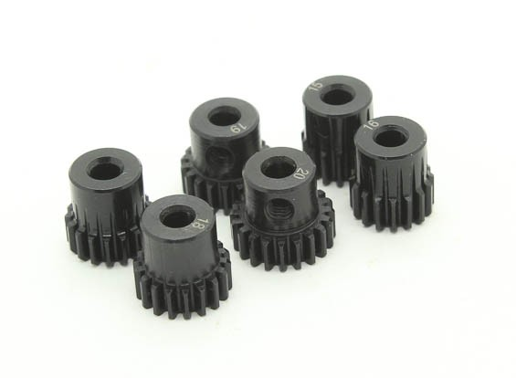 Hardened Steel Pinion Gear Set 48P Ajuster 3,175 Shaft (15/16/17/18/19 / 20T)
