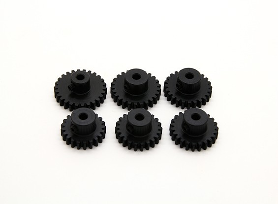 Hardened Steel Pinion Gear Set 32P Ajuster 3,175 Shaft (21/22/23/24/25 / 26T)